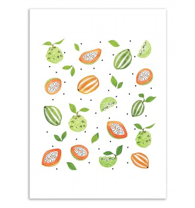 Art-Poster 50 x 70 cm - Papayas and Custard apples - 83 Oranges