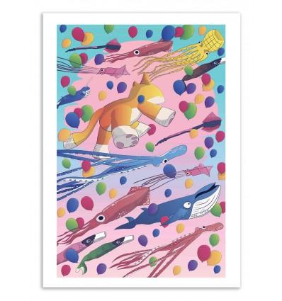 Art-Poster 50 x 70 cm - Kite Parade - Noel del Mar