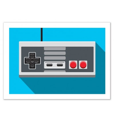 Art-Poster 50 x 70 cm - Retro Controller : manette NES - Olivier, Wall Editions
