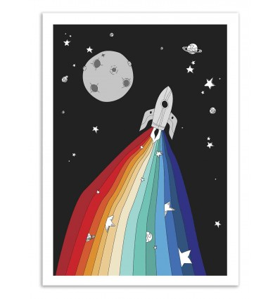 Art-Poster 50 x 70 cm - Magic Rocket - Noel del Mar