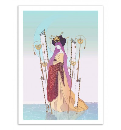 Art-Poster 50 x 70 cm - Moon Goodess - Noel del Mar