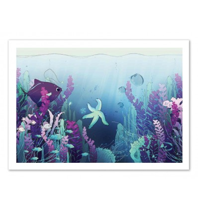Art-Poster 50 x 70 cm - Deep down in the water - Noel del Mar