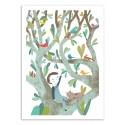 Art-Poster - In the tree, boy - Judith Loske