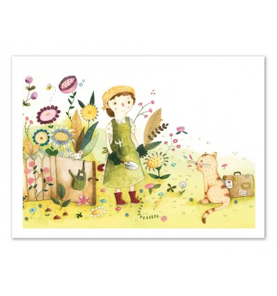Art-Poster 50 x 70 cm - Meeting in the garden - Judith Loske