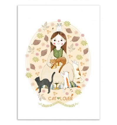 Art-Poster 50 x 70 cm - Cat Lover - Judith Loske