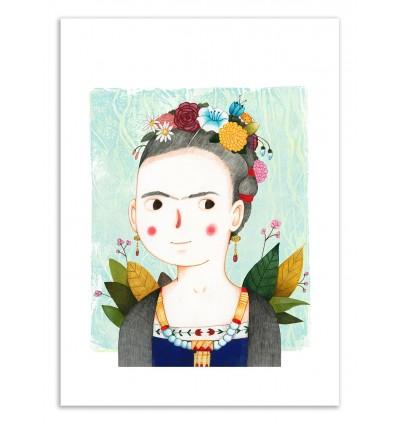 Art-Poster 50 x 70 cm - Frida - Judith Loske