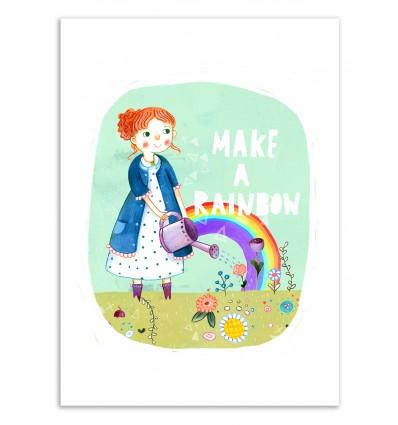 Art-Poster 50 x 70 cm - Make a rainbow - Judith Loske