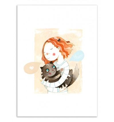 Art-Poster 50 x 70 cm - Meow - Judith Loske