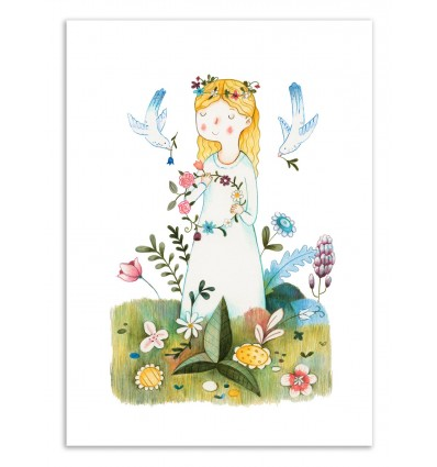 Art-Poster 50 x 70 cm - Spring is coming - Judith Loske