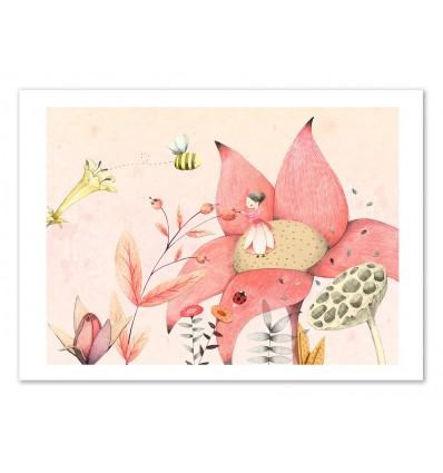 Art-Poster 50 x 70 cm - Thumbelina - Judith Loske