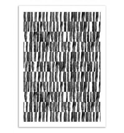 Art-Poster 50 x 70 cm -Black and white patterns - Kookie Pixel