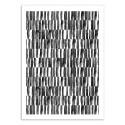 Art-Poster - Black and white patterns - Kookie Pixel