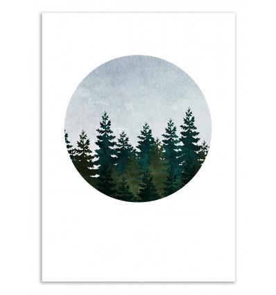 Art-Poster 50 x 70 cm - Evergreen - Kookie Pixel