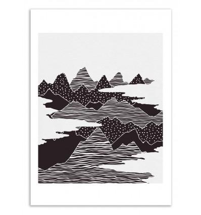 Art-Poster 50 x 70 cm - Peaks - Kookie Pixel