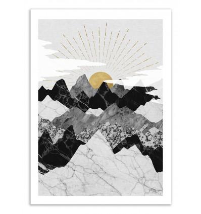 Art-Poster 50 x 70 cm - Sun Rise - Kookie Pixel
