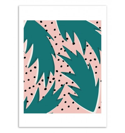 Art-Poster 50 x 70 cm - Triangle Jungle - Kookie Pixel
