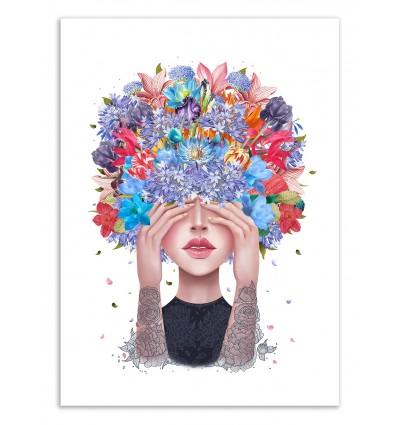 Art-Poster 50 x 70 cm - Blooming Mind - Valeriya Korenkova