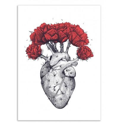Art-Poster 50 x 70 cm - Cactus Heart - Valeriya Korenkova