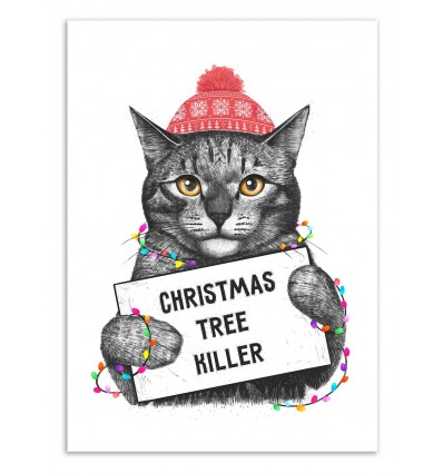 Art-Poster 50 x 70 cm - Christmas tree killer - Valeriya Korenkova