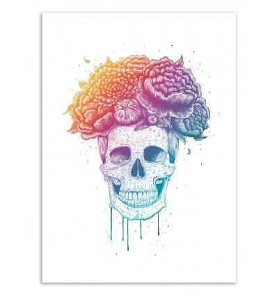 Art-Poster 50 x 70 cm - Colorfull Skull - Valeriya Korenkova
