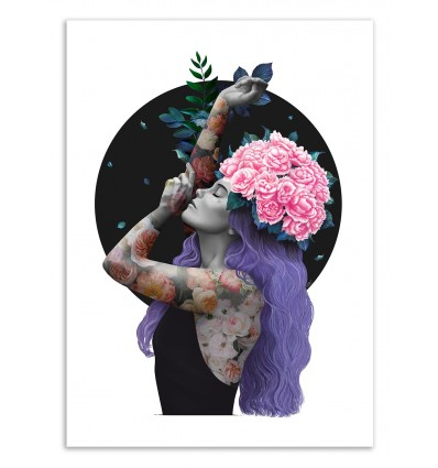 Art-Poster 50 x 70 cm - Just breathe - Valeriya Korenkova