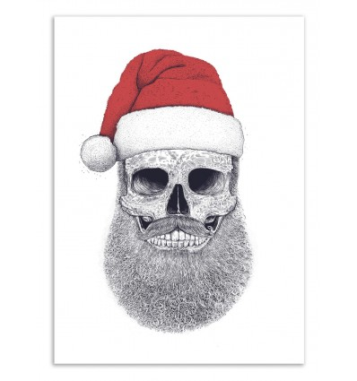 Art-Poster 50 x 70 cm - Santa Skull - Valeriya Korenkova