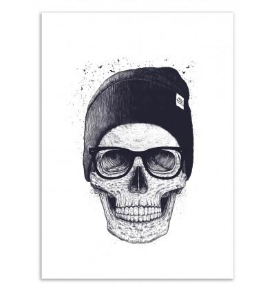 Art-Poster 50 x 70 cm - Skull in a hat - Valeriya Korenkova