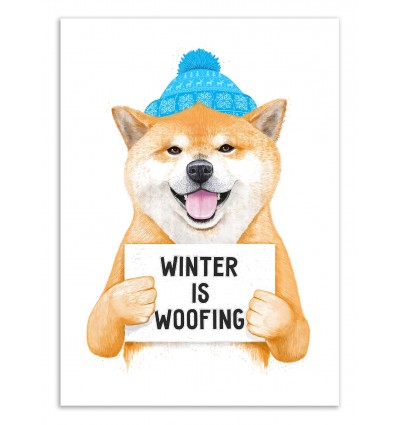 Art-Poster 50 x 70 cm - Winter is woofing - Valeriya Korenkova