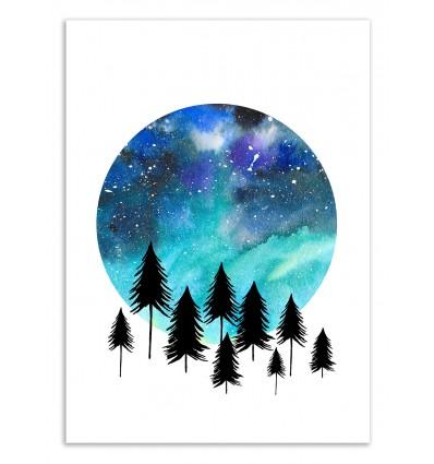 Art-Poster 50 x 70 cm - Aurora Borealis - Amaya Brydon