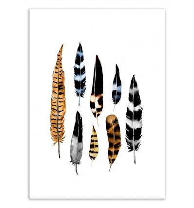 Art-Poster 50 x 70 cm - Feather collage - Amaya Brydon
