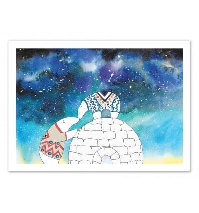 Art-Poster 50 x 70 cm - Love under the stars - Amaya Brydon