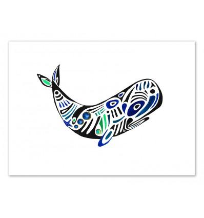 Art-Poster 50 x 70 cm - Whale - Amaya Brydon