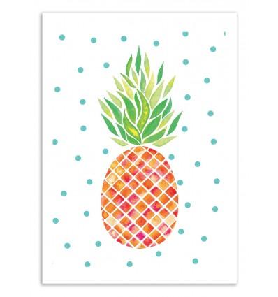 Art-Poster 50 x 70 cm - Tangerine Pineapple - Amaya Brydon