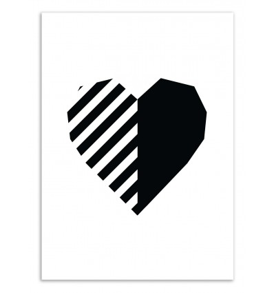 Art-Poster 50 x 70 cm - Black Heart - The Native State