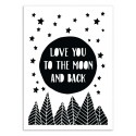 Art-Poster - Love you to the moon - The Native State