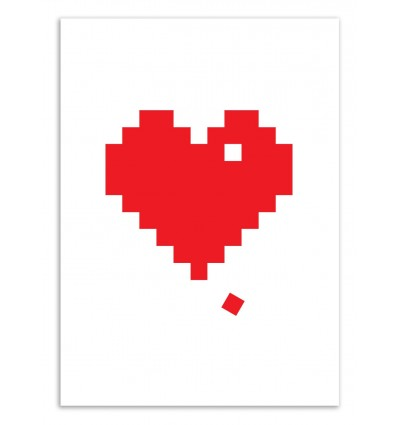 Art-Poster 50 x 70 cm - Pixel Heart - The Native State