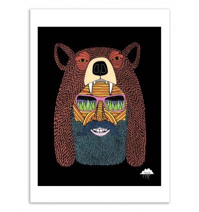 Art-Poster 50 x 70 cm - Bear hat Bob - Mulga