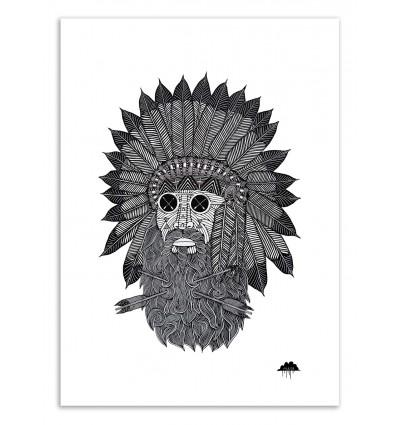 Art-Poster 50 x 70 cm - Chief great beard - Mulga