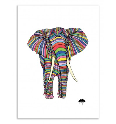Art-Poster 50 x 70 cm - Eden the elephant - Mulga