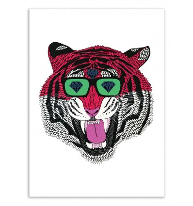 Art-Poster 50 x 70 cm - Gino the tiger - Mulga
