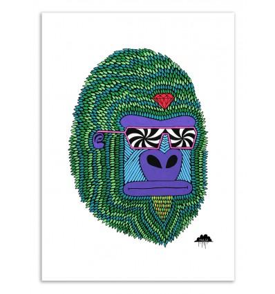 Art-Poster 50 x 70 cm - Herbert the hypno ape - Mulga