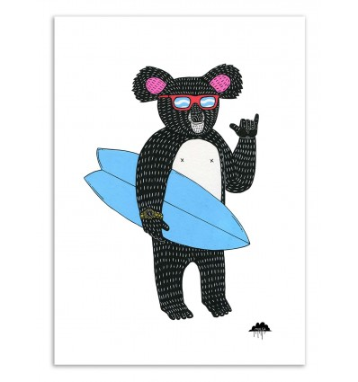 Art-Poster 50 x 70 cm - Rod the koala - Mulga