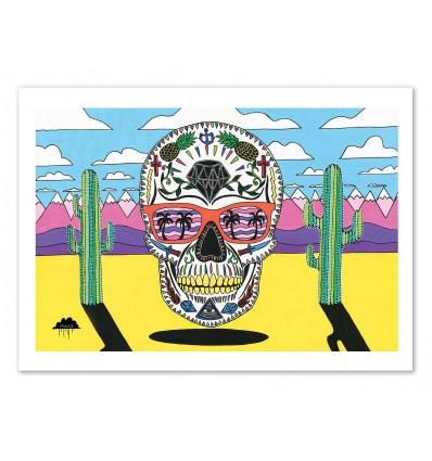Art-Poster 50 x 70 cm - Segfried the sugar skull - Mulga