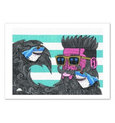 Art-Poster 50 x 70 cm - Skark beard Shane - Mulga