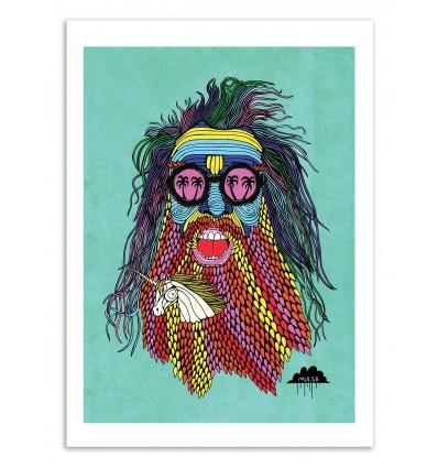 Art-Poster 50 x 70 cm - Tommy Franklin Unicorn beard - Mulga