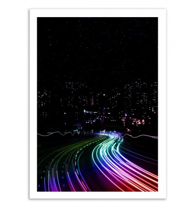 Art-Poster 50 x 70 cm - All the lights - Cascadia
