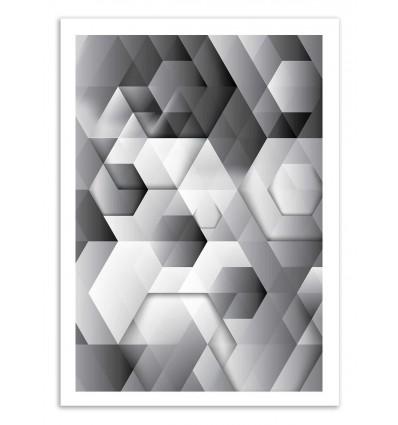 Art-Poster 50 x 70 cm - Black geometrics - Cascadia