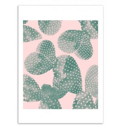 Art-Poster 50 x 70 cm - Cacti pink - Cascadia