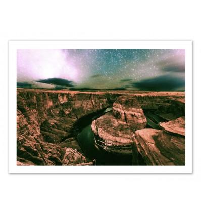 Art-Poster 50 x 70 cm - Surreal rocks - Cascadia