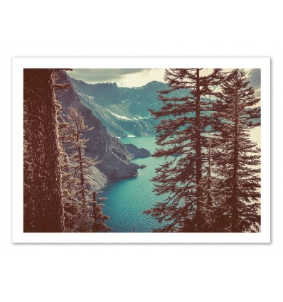 Art-Poster 50 x 70 cm - High view - Cascadia